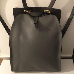 NWOT ZARA WOMAN DARK GRAY BACKPACK SHOULDER BAG